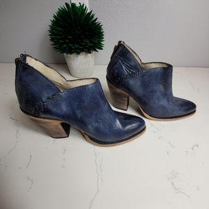 Freebird Blue Distressed Leather STEEL Booties